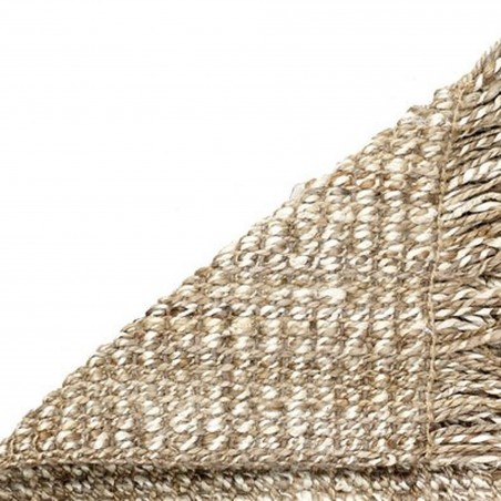 Lagos  Jute Loop Rug - Grey  Backing Detail