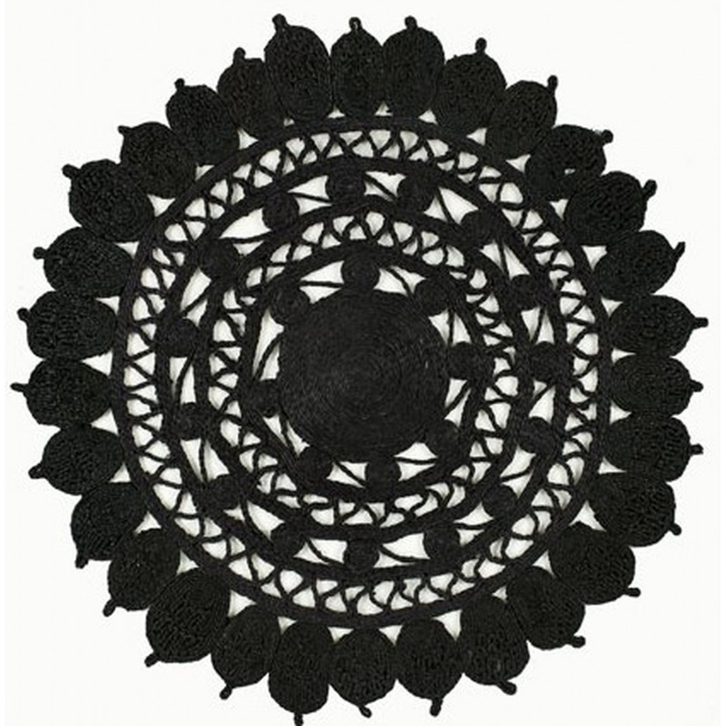 Zarla Round Rug - Black