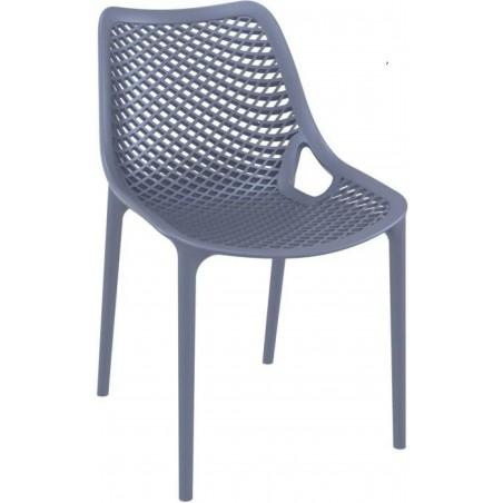 Dylan outdoor Chair in dark grey