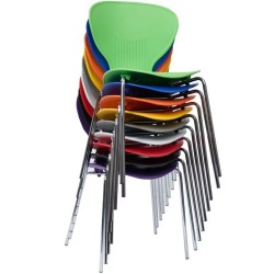 Funkette Coloured Poly Chairs Stackable
