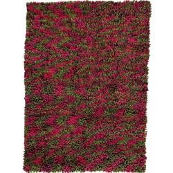 Riwaka Felted Wool Rugs - Red & Green.