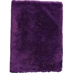Grampian Shaggy Wool Rug Purple