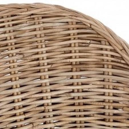 Lovina Rattan Armchair - Curved Back Detail