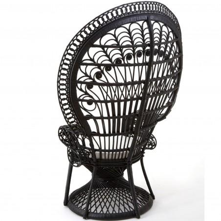 Faiza Peacock Chair, black, back view