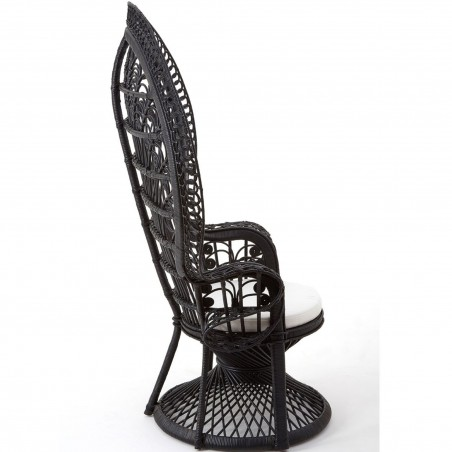Faiza Peacock Chair, black side view