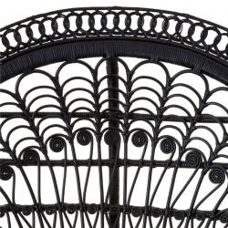 Faiza Peacock Chair, black, close up of back