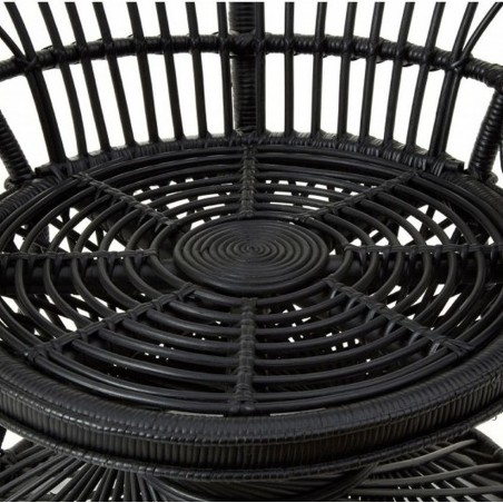 Faiza Peacock Chair, black, close up of seat