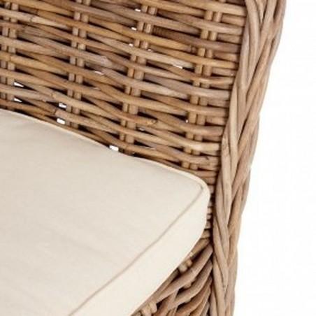Lovina Wing Back Rattan Armchair Seat Detail