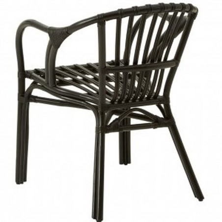 Havana Rattan Armchair - Black Rear View