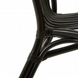 Havana Rattan Armchair - Black Rear Leg Detail