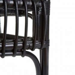 Havana High Back Rattan Armchair - Black Rear Detail