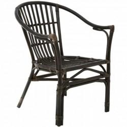 Corvetto  Rattan Chair - Black