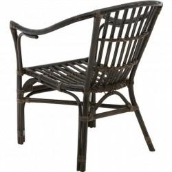 Corvetto Rattan Chair - Black Rear View