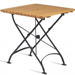 Outdoor Square Wooden Folding Garden Table - Small