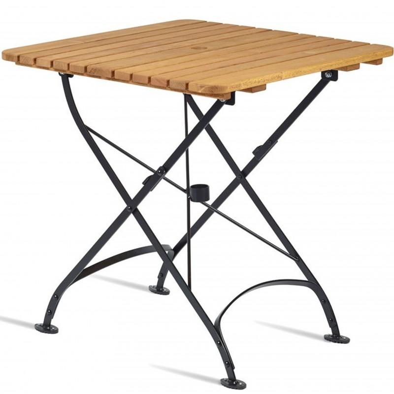 Square Folding Wooden Garden Table, Folding Wooden Table For Garden