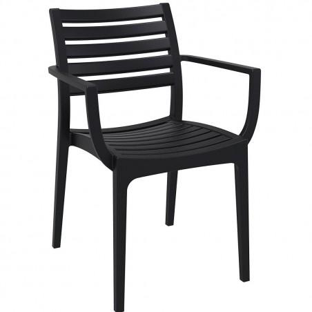 Sorano Black Plastic Garden Armchair