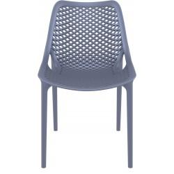 Dylan outdoor Chair in dark grey front View