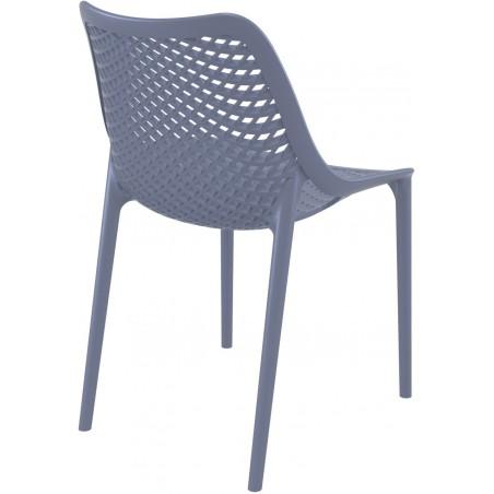 Dylan outdoor Chair in dark grey Rear View