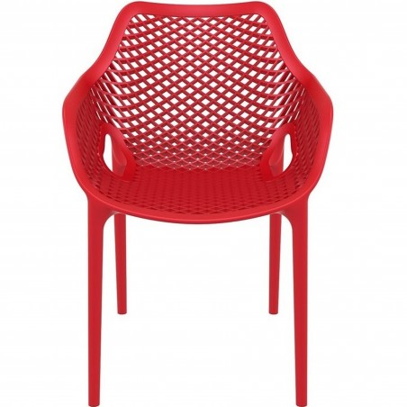 Dylan armchair in Red - Front View