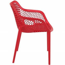 Dylan armchair in Red - Side View
