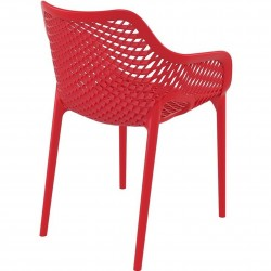 Dylan armchair in Red - Angled Rear View