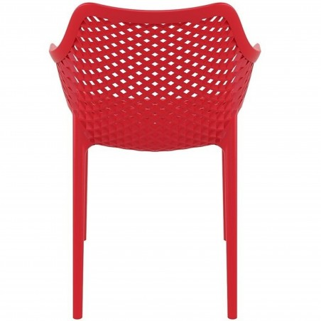 Dylan armchair in Red - Rear View