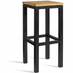 Outdoor bar stool with robina wood seat