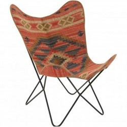 Hatay Aztec Butterfly Chair, front angled view
