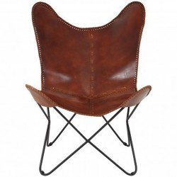 Keady Butterfly Chair, Tan front  view