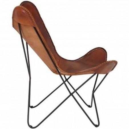 Keady Butterfly Chair, Tan side view