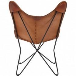 Keady Butterfly Chair, Tan rear view