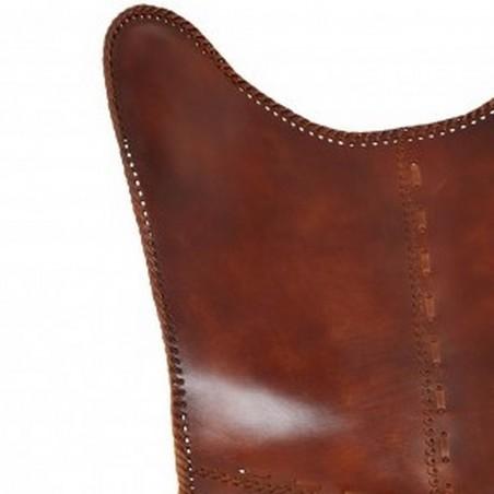 Keady Butterfly Chair, Tan  Back Detail
