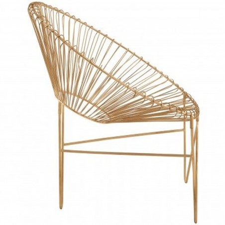 Tampico Iron Chair side view