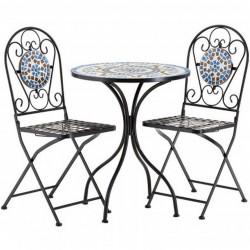 Kasos Mosaic 2 Seater Dining set
