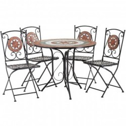 Chios Terracotta Mosaic 4 Seater Dining set
