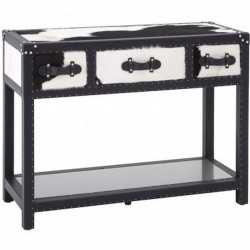 Haze Cowhide Console Table front angled view