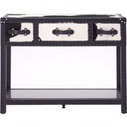 Haze Cowhide Console Table, front view