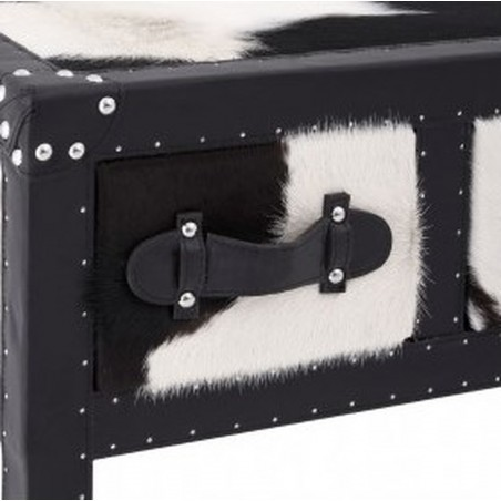 Haze Cowhide Console Table close up