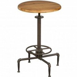 Hoxton Industrial Bar Table , front view