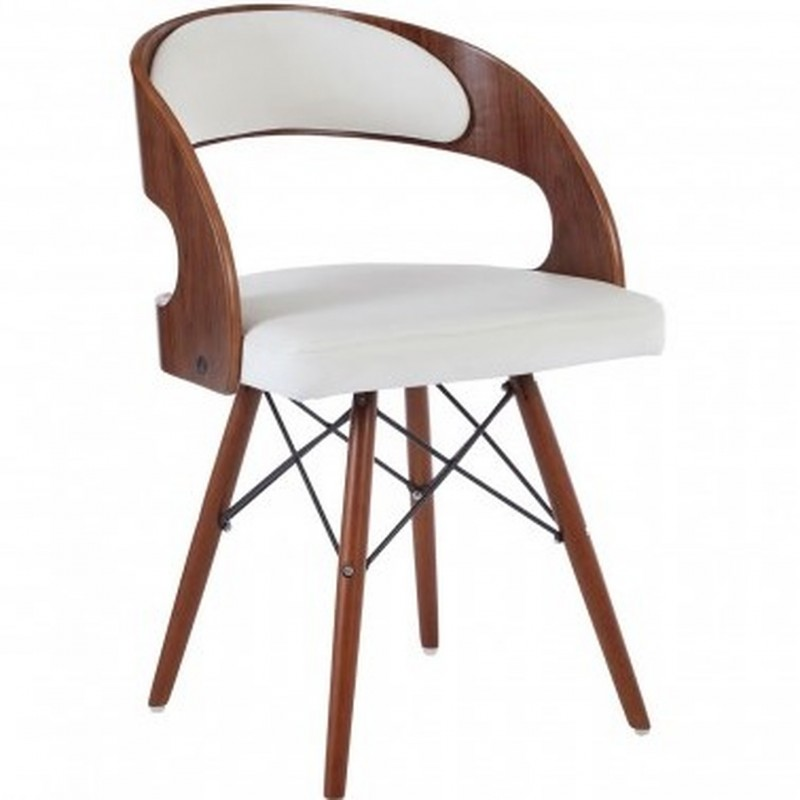 Colindale Chair, white front angled view
