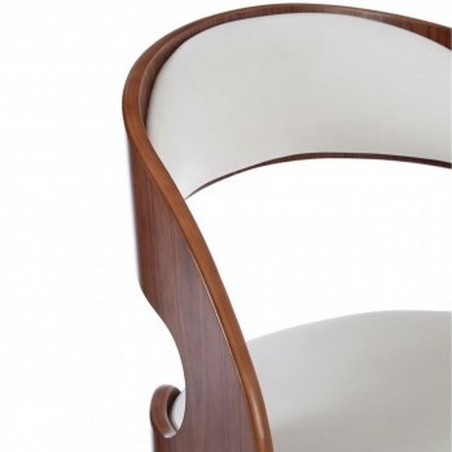 Colindale Chair, white close up of back