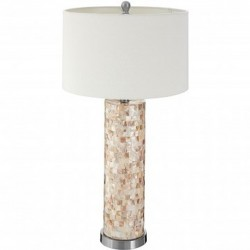 Iola Shell Table Lamp, front angled view