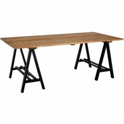 Newham Dining Table, front angled view