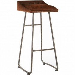 Saltley Industrial Style Bar Stool Angled View