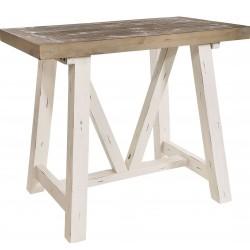 Kingston Driftwood & Distressed White Breakfast Bar Table