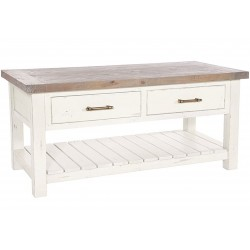 Kingston Driftwood & Distressed White Coffee Table