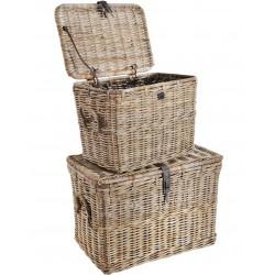 natural rattan grey wash storage baskets