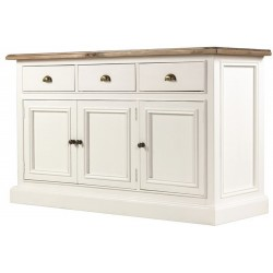 hand painted 3 drawer sideboard