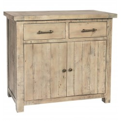 Millbrook Reclaimed Driftwood Compact 2 Drawer Sideboard
