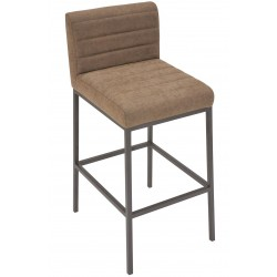 Brighton Industrial Faux Brown Leather Bar Stool